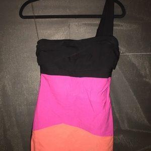 Ruby Rox pink/black/orange asymmetrical size 11